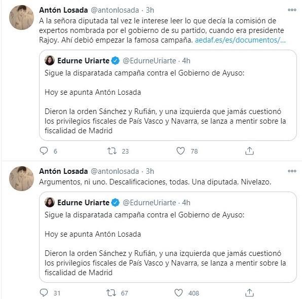 Respuesta de Antón Losada a diputada del PP