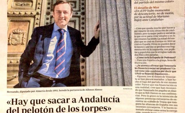 Rafael Hernando Ofende A Andalucía Hay Que Sacarla Del