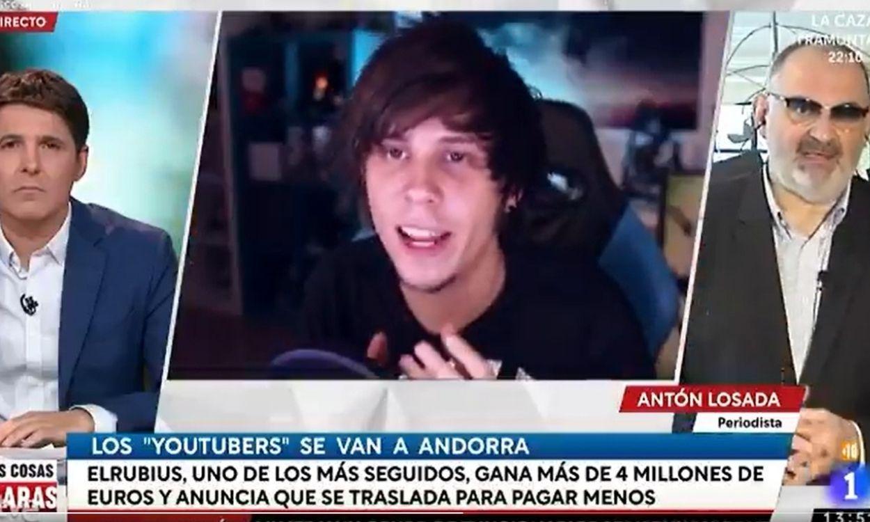 """Las Cosas Claras': Antón Losada reconoce que le resulta """"llamativo"""" el  apoyo de la gente a los yotubers que se marchan a Andorra"""