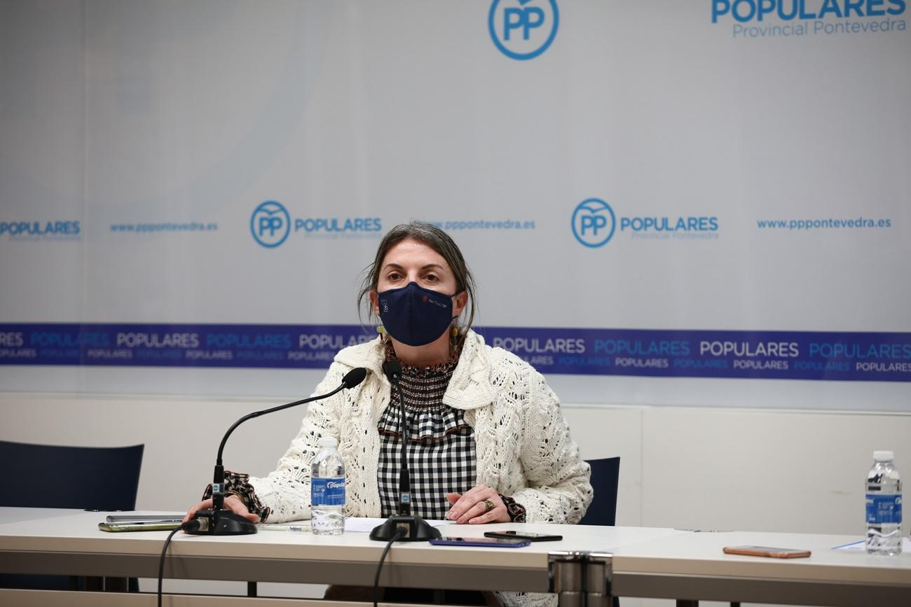 Luisa Piñeiro, exalcaldesa de Moaña donde tiene un chalet ilegal la pareja de Feijóo Eva Cardenas encima de la servidumbre de paso condenada por corrupción.