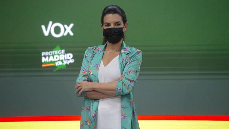 Rocío Monasterio, durante una rueda de prensa. EP archivo