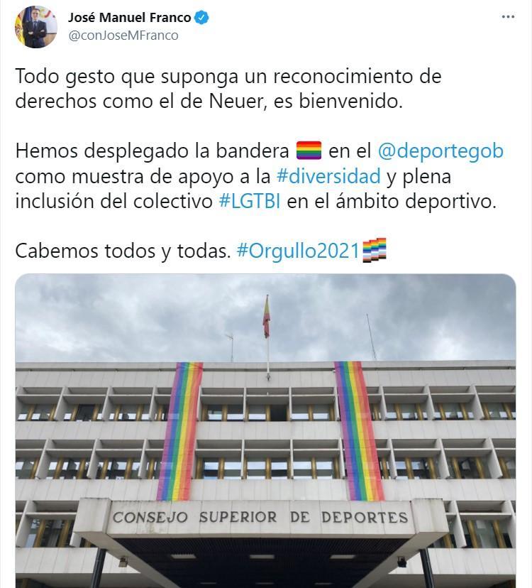 José Manuel Franco en Twitter