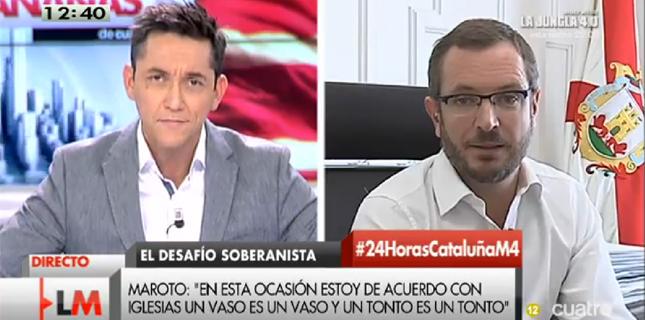 Javier Ruiz vive un \'Cintora\': Maroto le amenaza en directo con ...