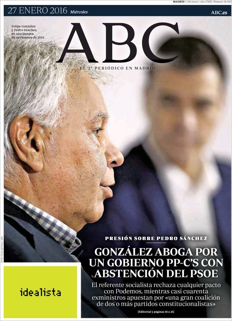 ABC Oculta En Su Portada El Escndalo De Corrupcin Del PP Valenciano