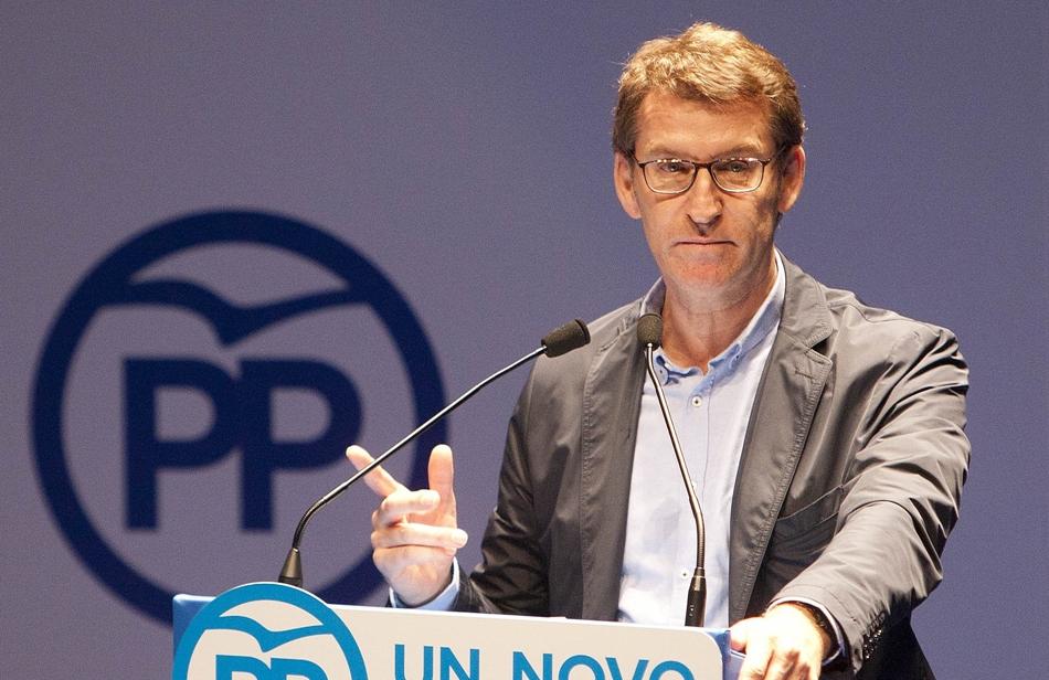 Alberto Núñez Feijóo, presidente de la Xunta de Galicia .
