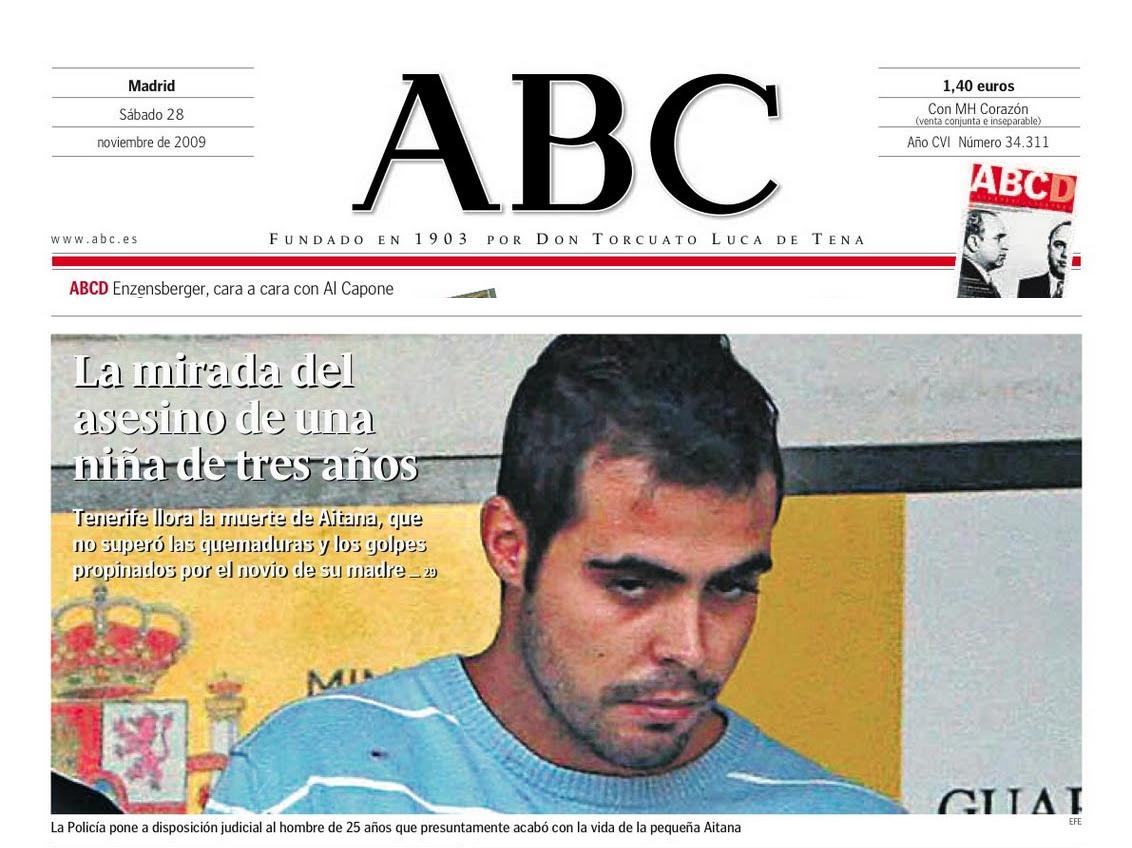 Portada De ABC Con La Mirada Del Asesino Una Nia Tres Aos2