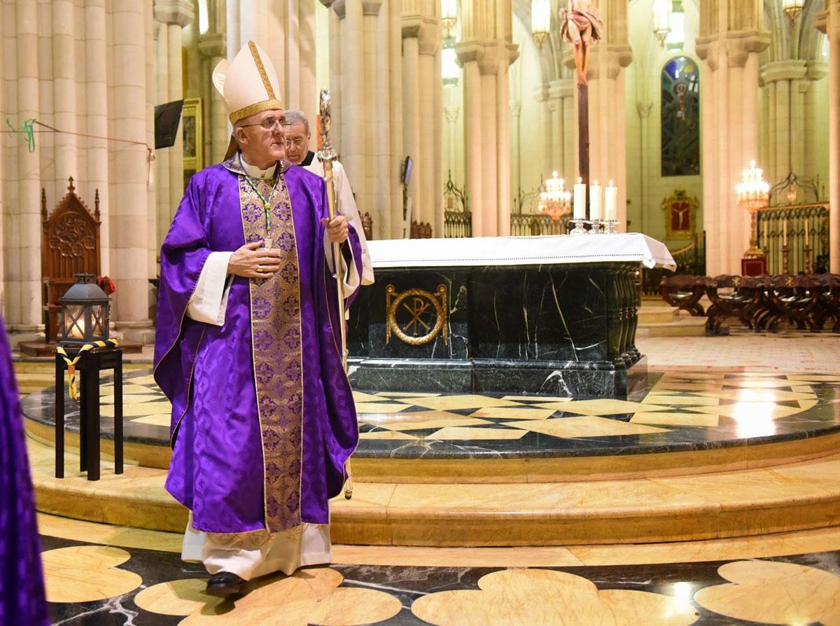 El cardenal arzobispo de Madrid, Carlos Osoro
