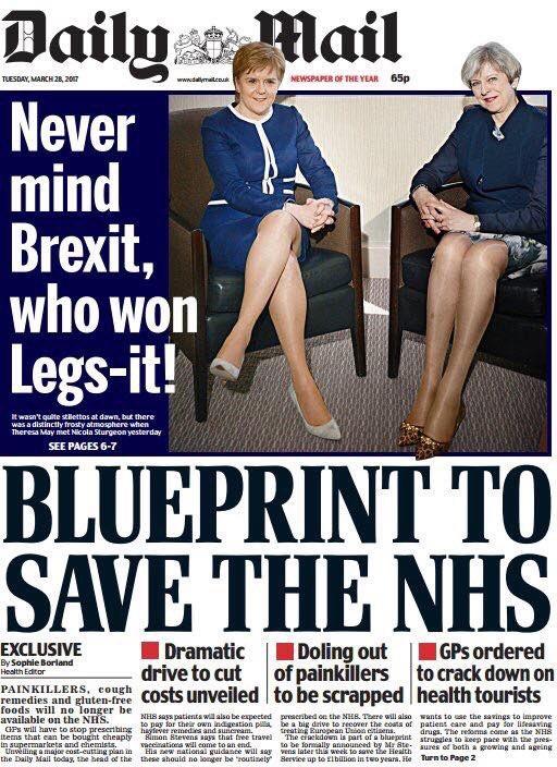 El momento machista de daily mail con theresa may y sturgeon la primera ministra britnica theresa may malvernweather Image collections