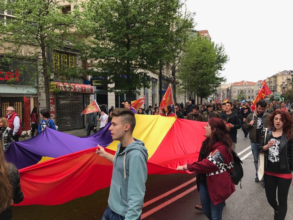 Manifestación por la tercera república en Santander.