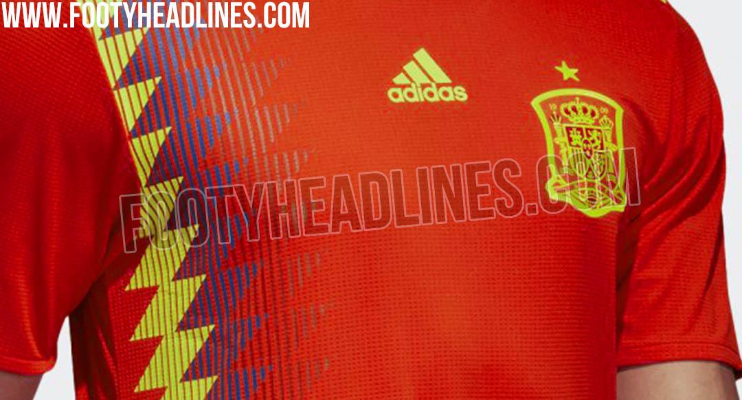 Camiseta de España para el Mundial de Rusia fuente FootyHeeadlines 68fa4827127b7