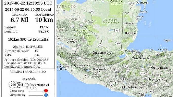 Un Terremoto De 6 8 Sacude La Costa De Guatemala