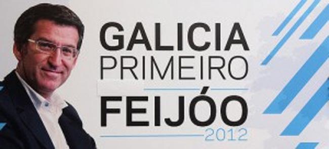 Feijóo elimina a Rajoy y las gaviotas del cartel electoral