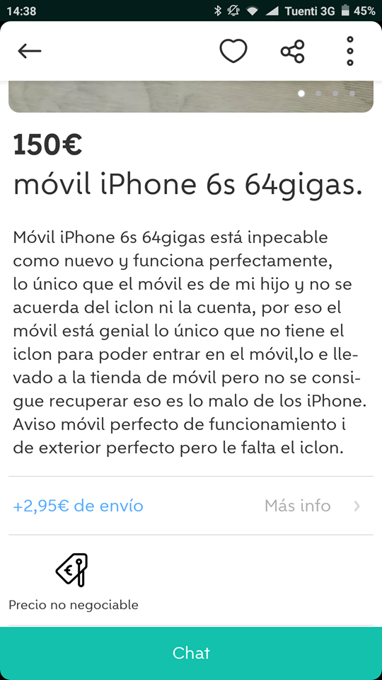 7- Iphone 6: iclon perdido