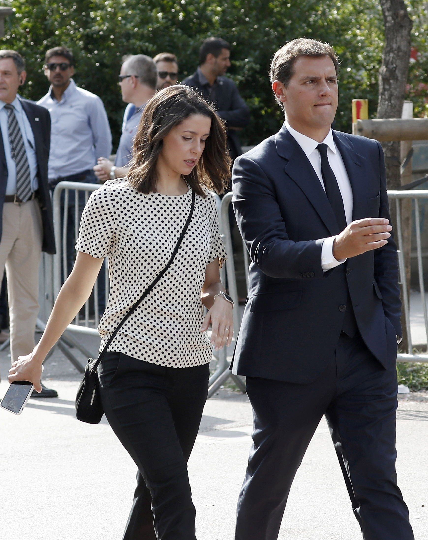 El presidente de Ciudadanos, Albert Rivera, y la líder del partido en Cataluña, Inés Arrimadas.