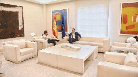 Sánchez e Iglesias se reúnen en Moncloa para cerrar los Presupuestos