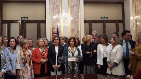 Las diputadas del PP: indignación con Rufián, silencio con Rajoy
