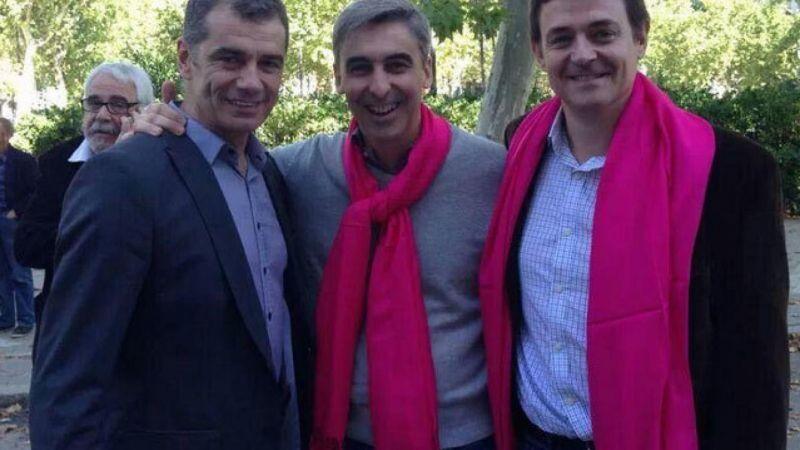 Jaime Berenguer, a la derecha, junto a Toni Cantó (izquierda) y David Ortega (centro)