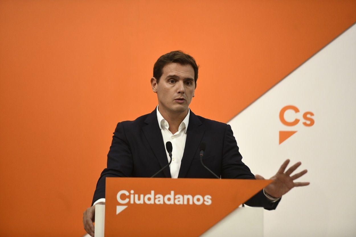 """Ciutadans """"Alternativa de Govern"""" Albert-rivera-durante-una-rueda-de-prensa-en-la-sede-de-ciudadanos"""