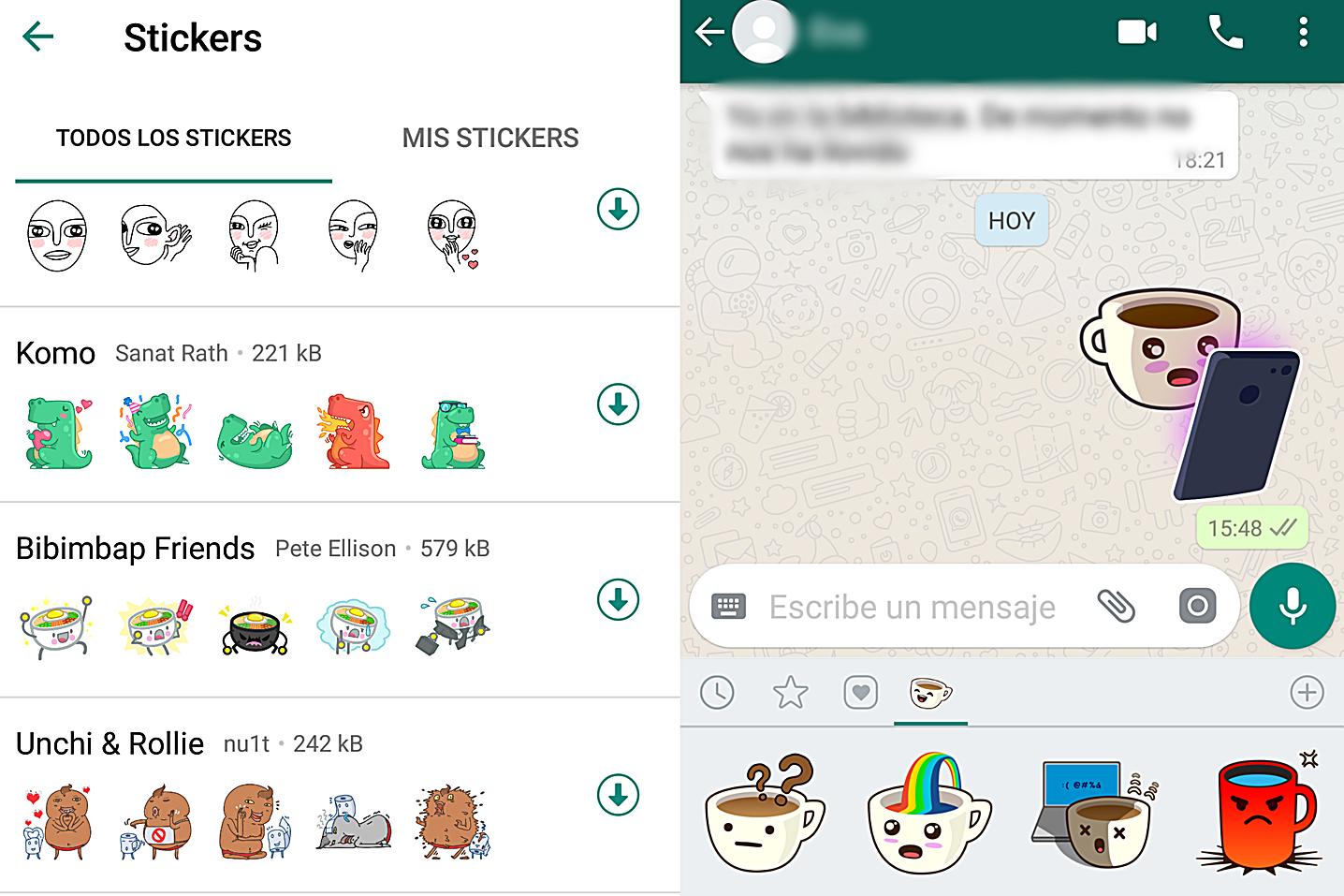 Los stickers de whatsapp están operativos desde hace apenas un mes