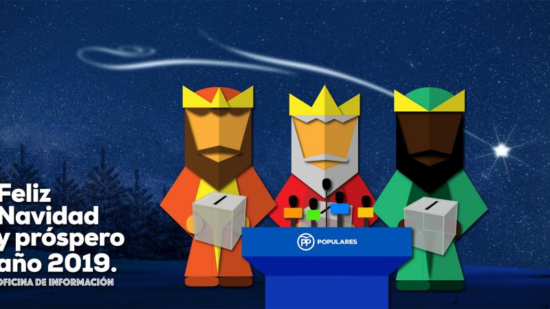 Felicitaciones De Navidad Con Los Reyes Magos.El Pp Felicita La Navidad Con Los Reyes Magos Cargados Con