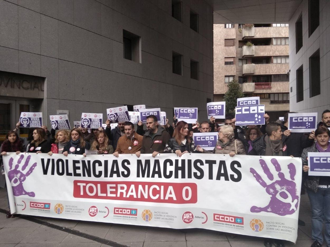 Manifestación contra la violencia de género. EP