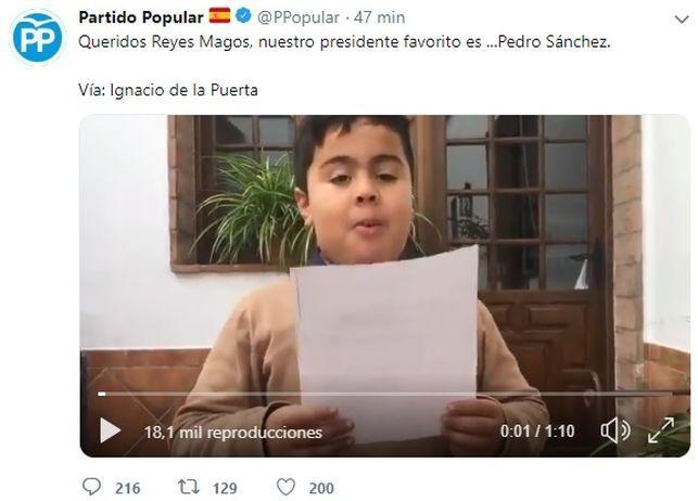 El PP la lía y 'pide la muerte' de Pedro Sánchez