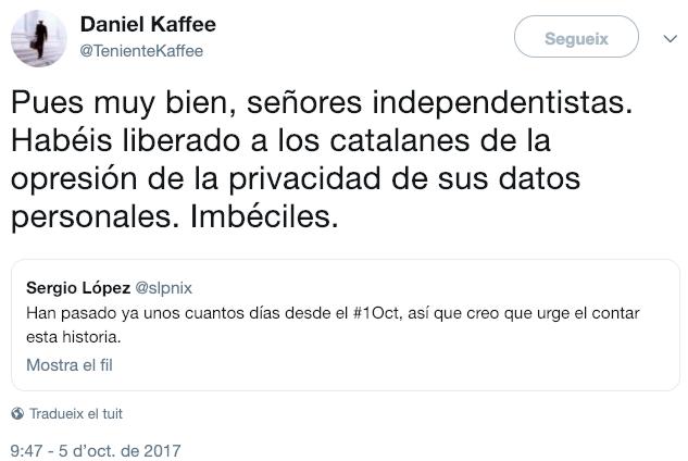 Captura Fiscal Delitos Cibernéticos contra independentistas catalanes