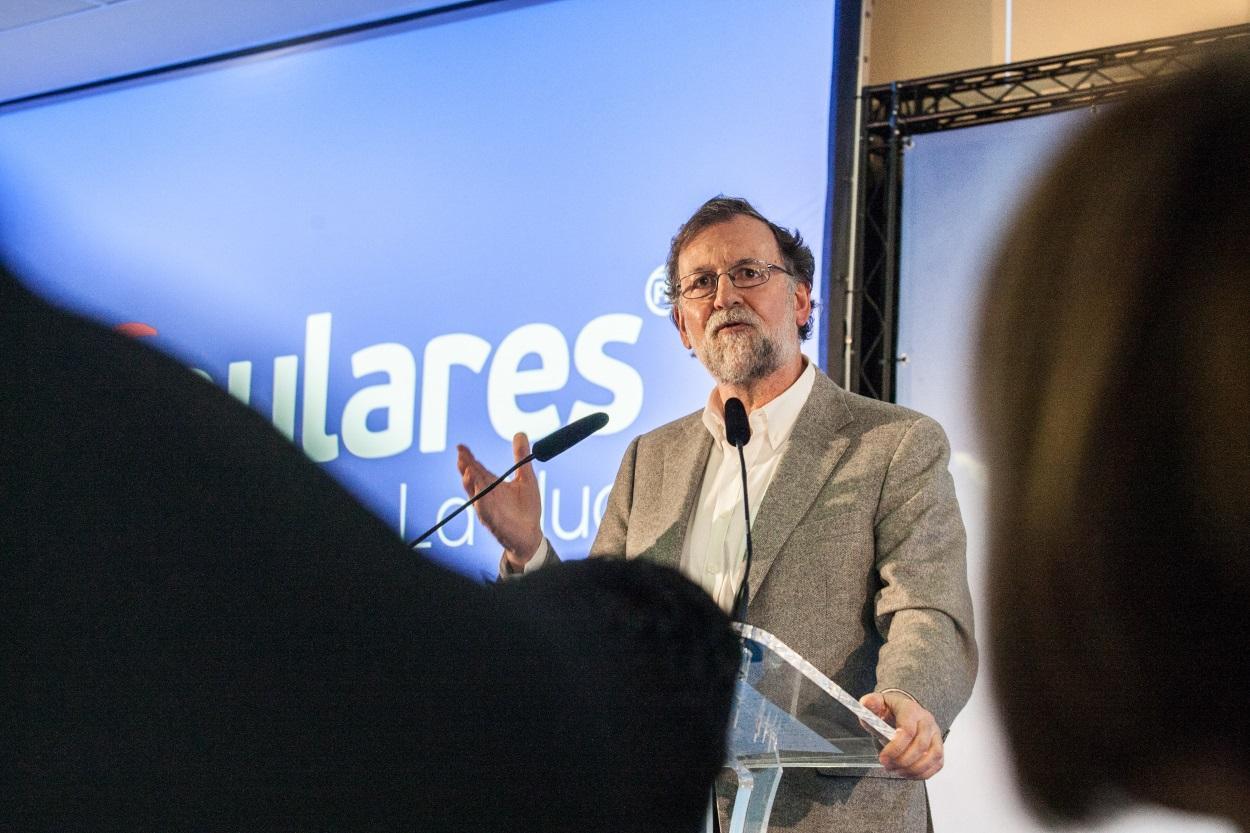 Mariano Rajoy durante un mitin en Valencia