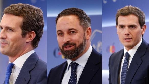 La derecha calienta la Investidura: PP, Cs y Vox critican la coalición