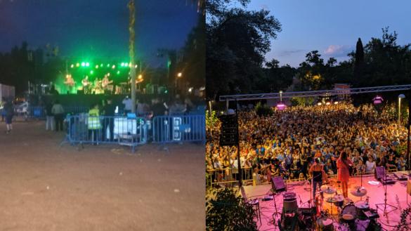 El concierto 'oficial' de Almeida 'pincha' y el censurado llena