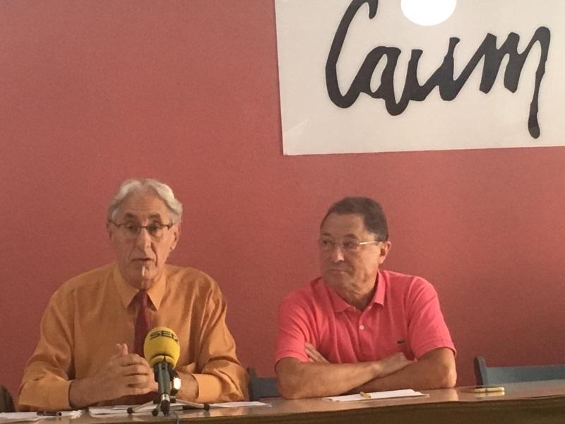 Enrique Ruiz del Rosal y Juanjo Picó en la rueda de prensa. El Plural