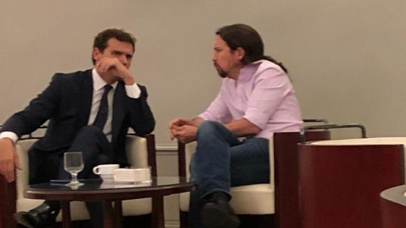 Pablo Iglesias estalla contra el PSOE por difundir una foto de su reunión con Rivera