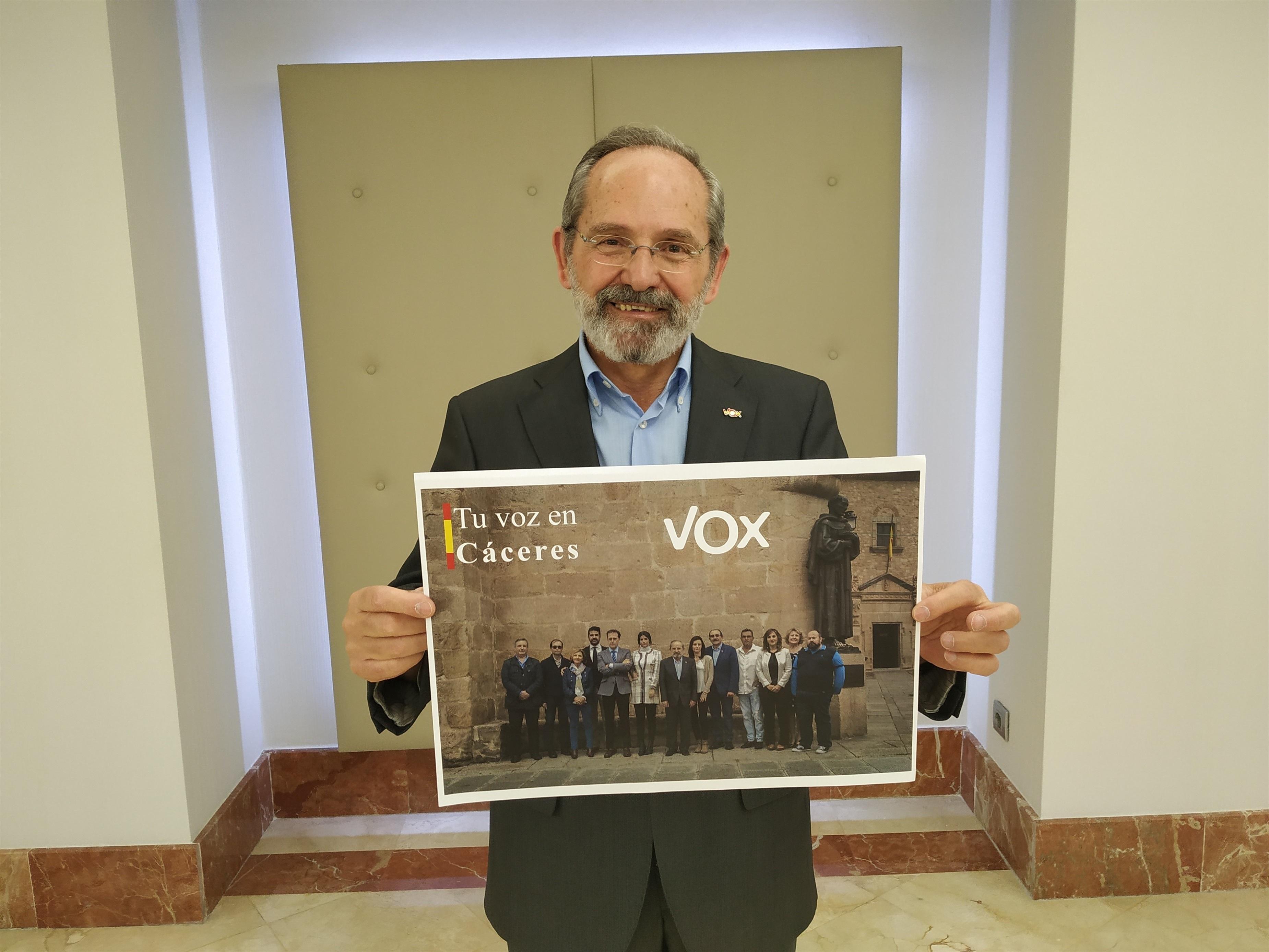 Teófilo Amores candidato de Vox en Cáceres