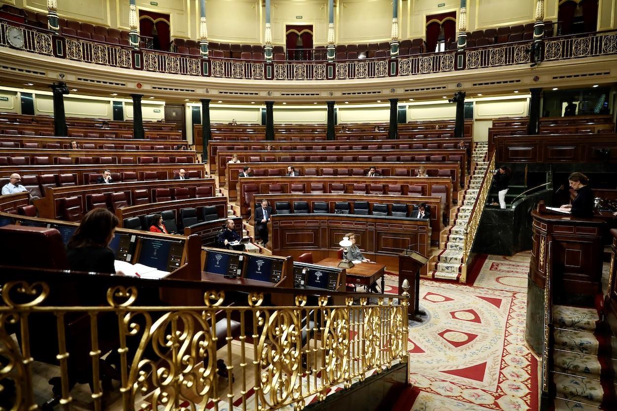 El Congreso de los Diputados semivacío a causa del coronavirus