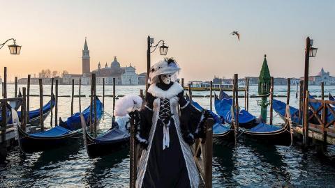 El Carnaval de Venecia fue suspendido por la crisis del coronavirus en Italia