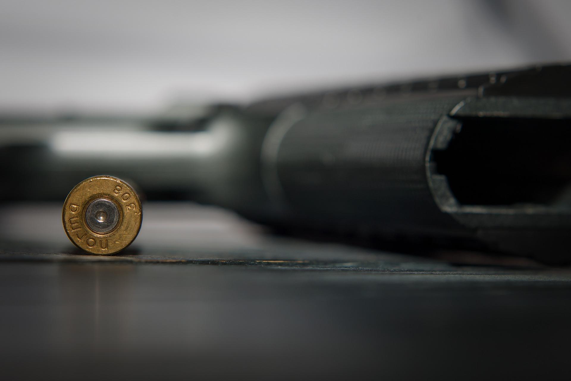 Una bala y una pistola. Fuente: Pixabay.