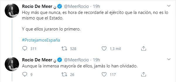 Mensajes de Rocío de Meer.