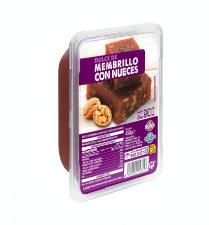 Mercadona: Membrillo con nueces
